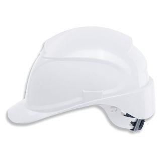 UVEX / Safety Helmet, Airving WHITE, ratchet adjustment mechanism, textile headband