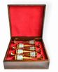 Gift set of small glasses of zirconium in a gift box made of wood - view 2