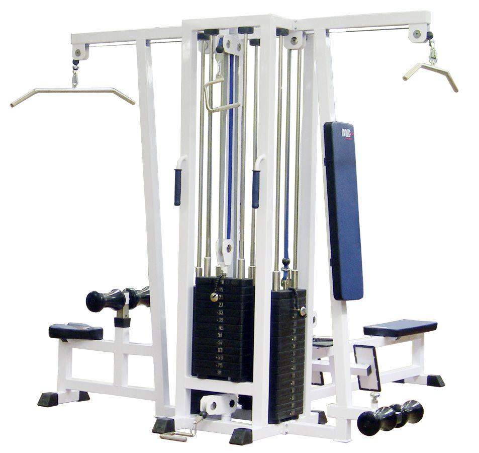 MB Barbell / 4-position station with a single block frame (weight block)