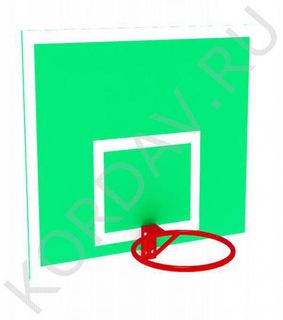 Basketball backboard with a ring