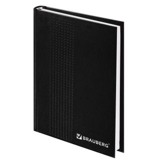 Diary dated for 4 years A5 (145 x 215 mm) BRAUBERG, cover of boomvinil, 192 sheets, black, embossed