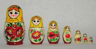 Vyatka souvenir / Painted nesting doll