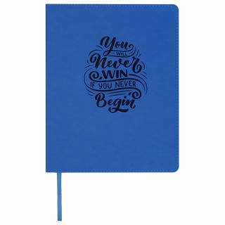 Diary 1-11 class 48 sheets, cover leather (light), print, BRAUBERG DAZZLE, blue