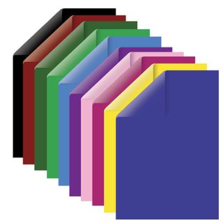 Cardboard A4 colored TINTED, 100 sheets 10 colors, 220 g/m2, BRAUBERG