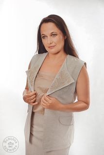 Vest womens linen embroidered С11799
