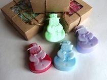 Handmade soap Snowman mix colors and fragrances