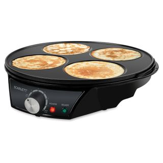 SCARLETT / Crepe maker SC-PM229S01, 1200 W, 4 pancakes, non-stick coating, black