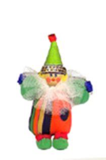 Doll-poteshka gift pendant. Clown. Wood, textiles.