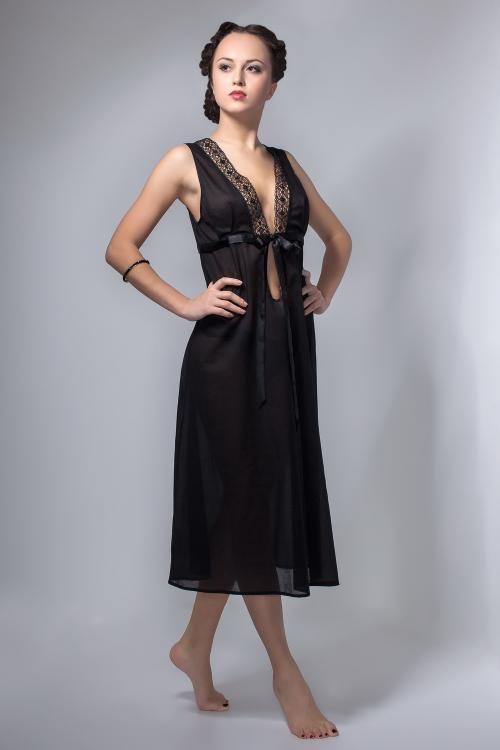 """Chemise nightwear women's """"Black Swan"""" wide shoulder"""