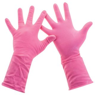 PACLAN / Latex household gloves pink