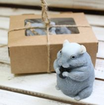 Handmade soap Hamster with sunflower seeds