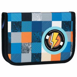 Pencil case TIGER FAMILY 1 compartment, 1 flap strap, fabric, Flash, 20х14х4 cm