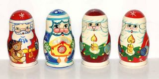 Matryoshka 5 places Santa Claus - Souvenir