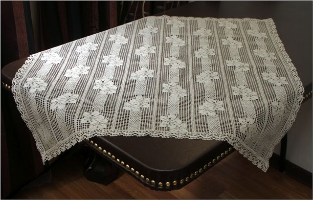 Cloth from machine made lace 75x75 cm