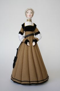Doll gift. Burgher women's costume.Basel. The beginning of the 16th century.