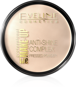 Mattifying mineral powder with silk anti-shine complex pressed powder - 32 natural the art. Professional make-up, Eveline