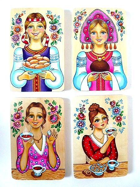 Tver souvenirs / Chopping board, 4 pcs.