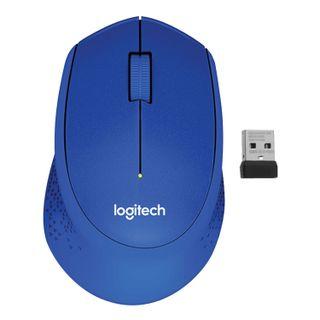 LOGITECH / Wireless mouse M330, 2 buttons + 1 wheel-button, optical, blue