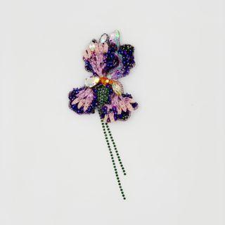Brooch Iris. Handmade