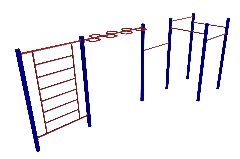 FSI Analytics / Workout complex - 5 horizontal bars, wall bars, zigzag handles