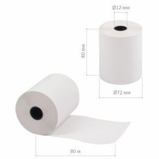 Receipt tape thermal PAPER 80 mm (diameter 72 mm, length 80 m, the sleeve 12 mm) SET of 9 PCs, BRAUBERG