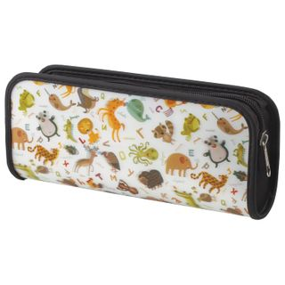 Pencil case-cosmetic bag BRAUBERG, with 3D effect, plastic,