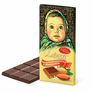 Chocolate Alenka with almond milk, 100 gr.