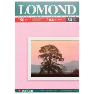 Photo paper for inkjet print, A4, 150 g/m2, 50 sheets, single-sided glossy LOMOND