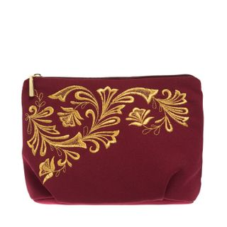 "Cosmetic bag ""Frosty pattern"" burgundy"