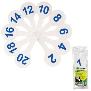 The fan (numbers from 1 to 20) of STAMM
