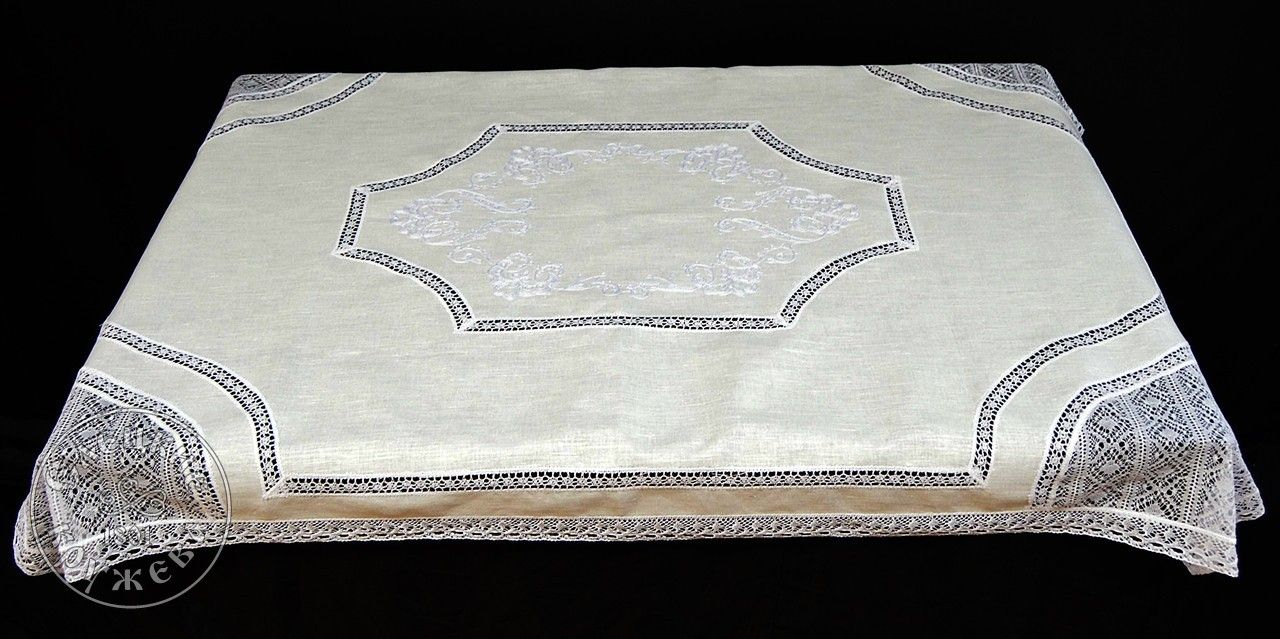 Yelets lace / Linen tablecloth С2014А