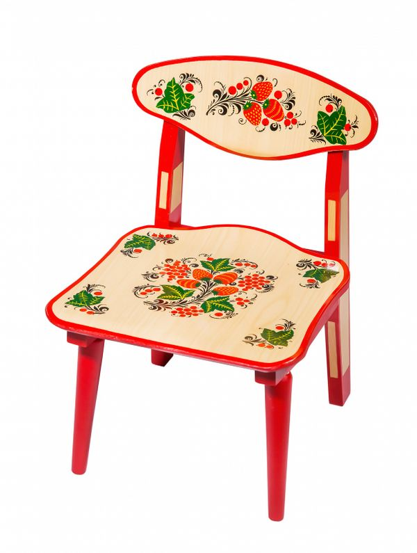 Wooden chair child folding, the 0 growth category