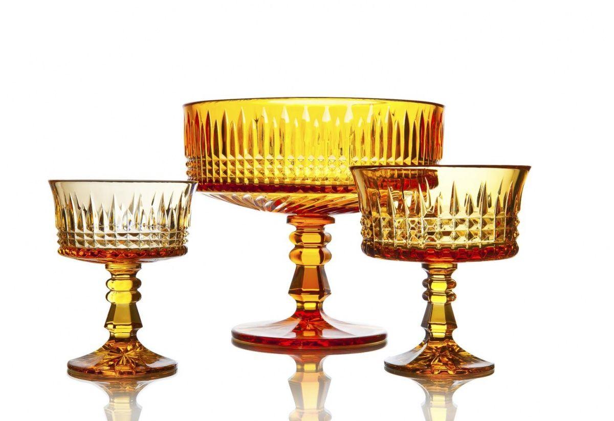 """Crystal vase for cream """"Honey Spas"""" amber"""
