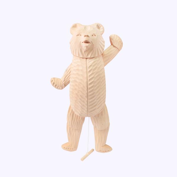 Bogorodskaya toy / Wooden souvenir 'Bear dancer'