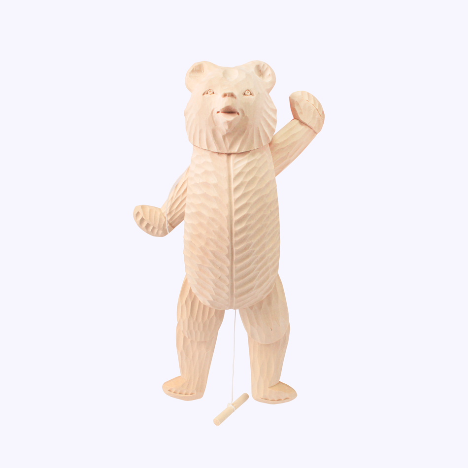 "Bogorodskaya toy / Wooden souvenir ""Bear dancer"""