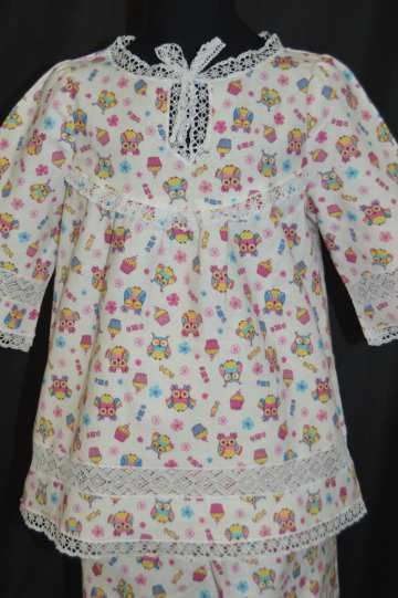 Yelets lace / Children's pajamas from flannel