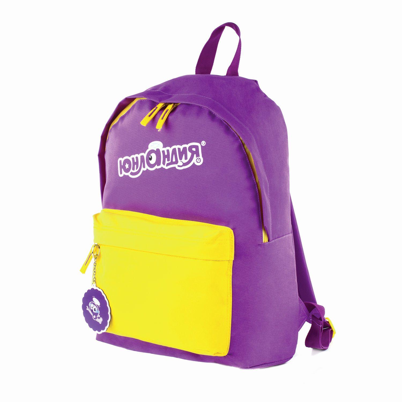 Backpack ONLANDIA with keychain, universal, purple, 44х30х14 cm