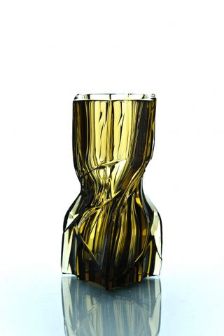 "Crystal decorative vase ""Architecton"" small marsh"