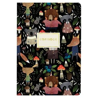 "Notebook EURO A5 40 sheets BRUNO VISCONTI stitching, cage, Soft Touch, foil, beige paper 70 g / m2, ""ANIMALS"""