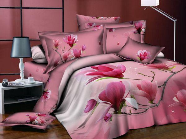 Satin bed linen 3D Oriental Jasmine