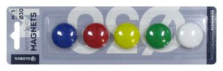 A set of colored magnets 30 mm 5 pieces