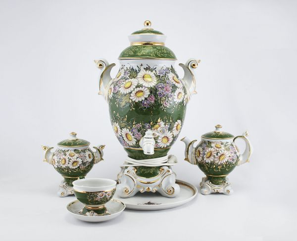 Delta-X / Porcelain electric samovar model 7 with tea pairs