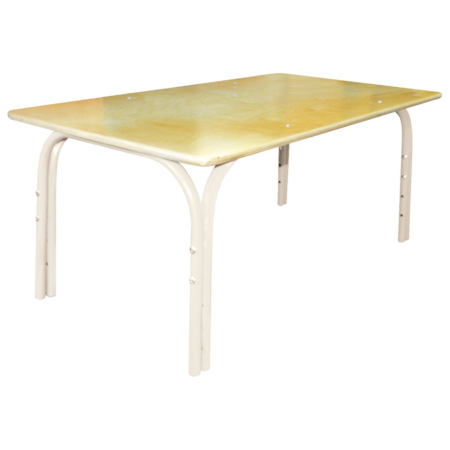 Children's Egg Table, 1100 x580 x460-580 mm, adjustable, height 1-3 (100-145 cm), plywood/metal, ivory