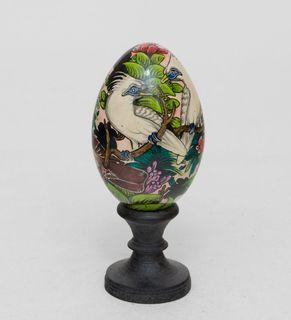 Egg wooden