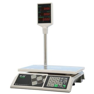 MERCURY / Trade scales M-ER 326ACP-32.5 LED (0.1-32 kg) with stand, resolution 10 g, platform 325x230 mm