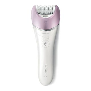 PHILIPS BRE635/00, 32 tweezers, 2 speeds, 6 nozzles, wet/dry hair removal, battery, white
