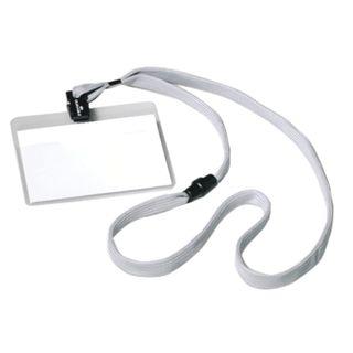 DURABLE / Badges horizontal on a gray tape 44 cm, 60x90 mm, SET 10 pcs.