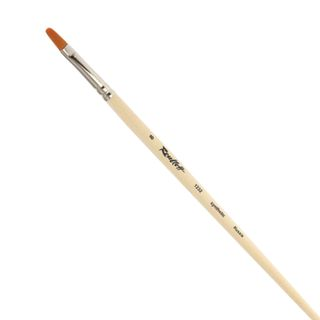 Art brush ROUBLOFF (Rublev), synthetic, hard, oval, No. 8, long handle