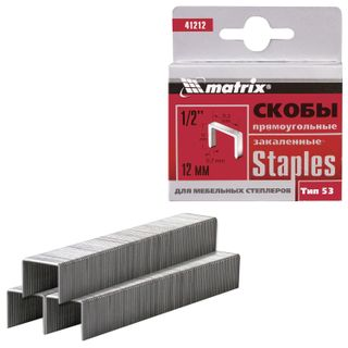 Staples for furniture stapler, type 53, 12 mm, MATRIX
