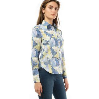 Blouse womens flora blue